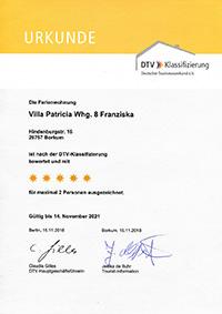 Borkum Villa Patricia Wohnung Franziska